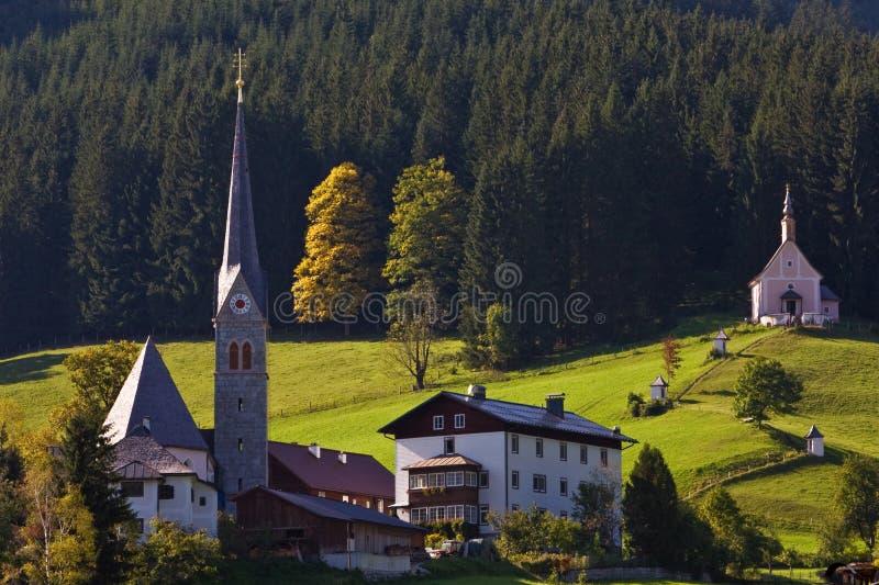 Gosau, Österreich stockbild