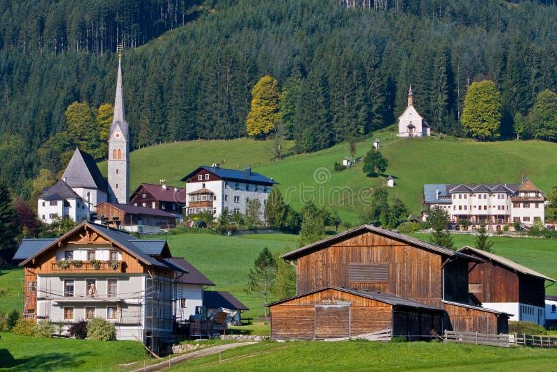 Gosau, Oostenrijk stock foto's