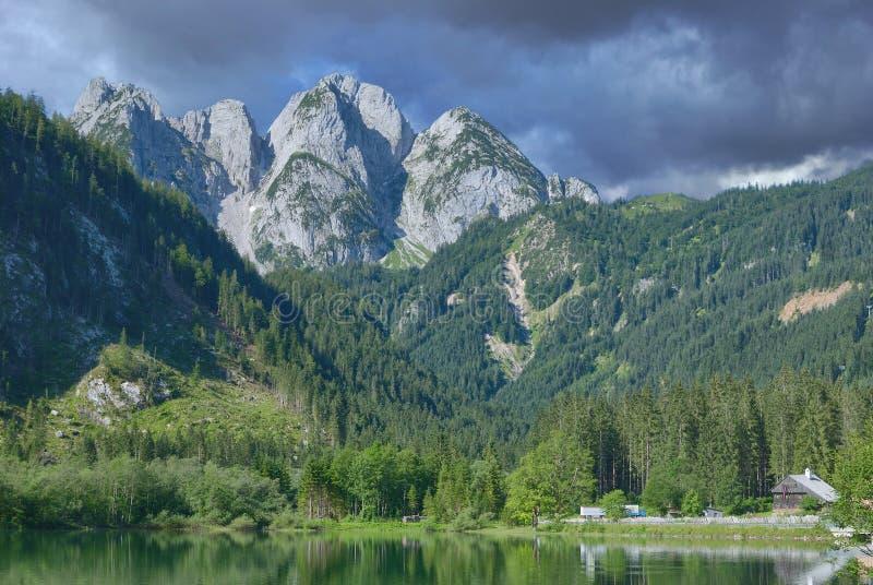 Gosausee, montañas de Dachstein, Austria septentrional fotos de archivo libres de regalías