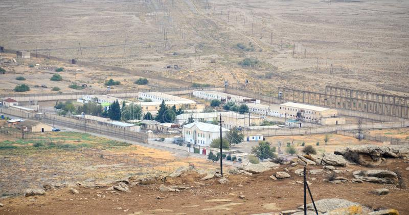 Gobustan prison there are criminals who repeatedly violated royalty free stock images