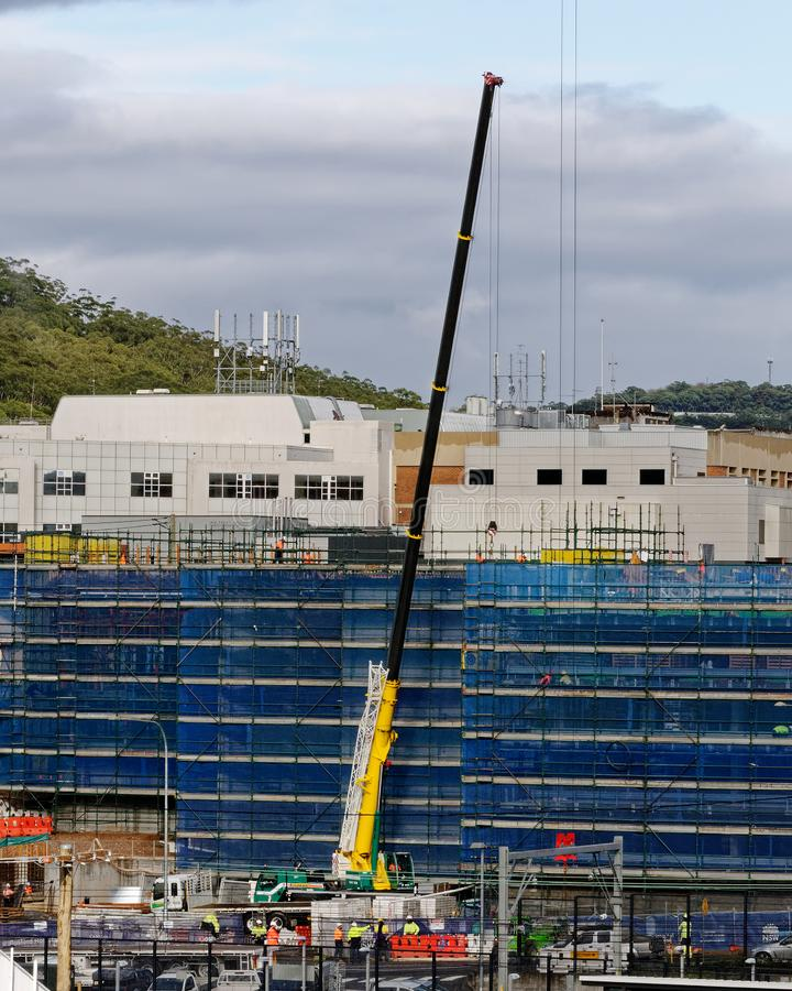 Gosford Hospital building progress H49ed October 2018 stock photo