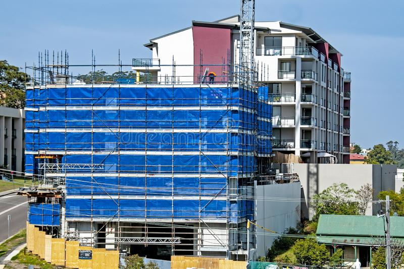 Building progress 110. At 47 Beane St. Gosford. July 2018. Gosford, New South Wales, Australia - July 19. 2018: Construction and building progress update 110 royalty free stock image