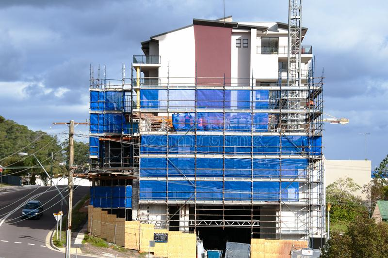 Building progress 96. At 47 Beane St. Gosford. June 2018. Gosford, New South Wales, Australia - June 18. 2018: Construction and building progress update 96. on royalty free stock image