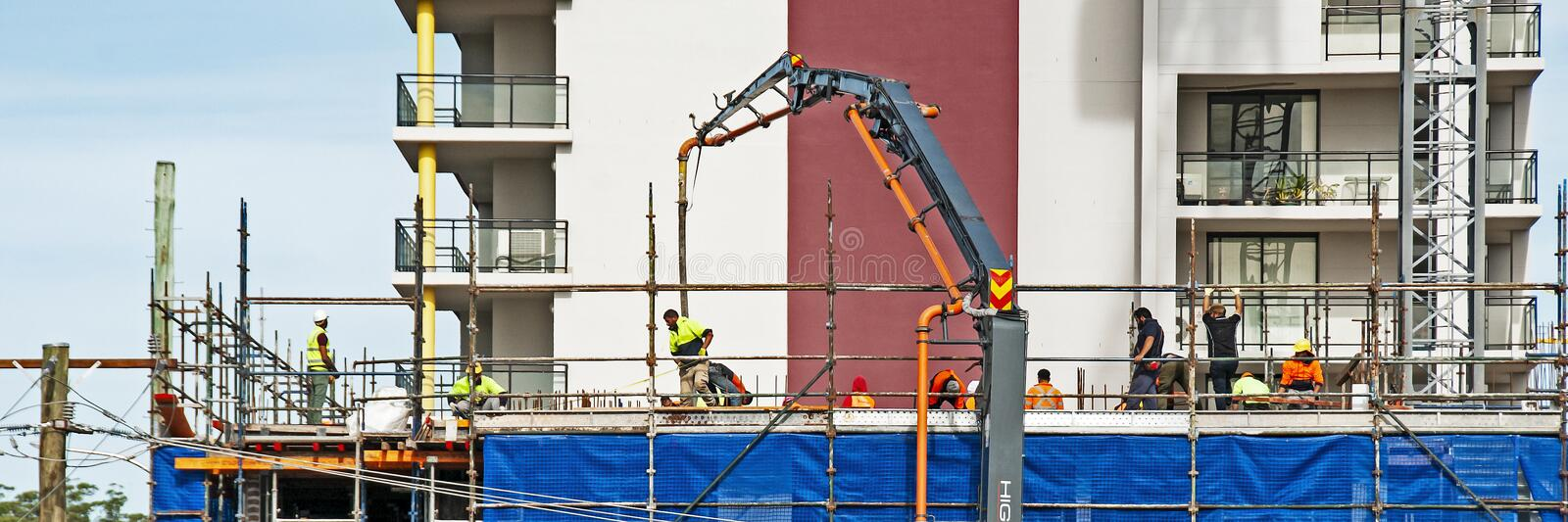 Building progress 90. 47 Beane St. Gosford. MNTH 2018. Gosford, New South Wales, Australia - June 13. 2018: Construction and building progress update 90 royalty free stock images