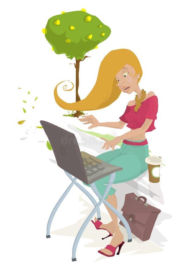 Gosh! my mail! stock illustration