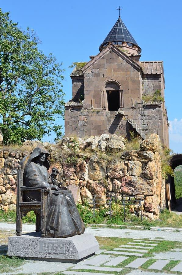 Goshavank Armenien, September, 11, 2014, inget, forntida kloster Goshavank i bergen arkivbilder