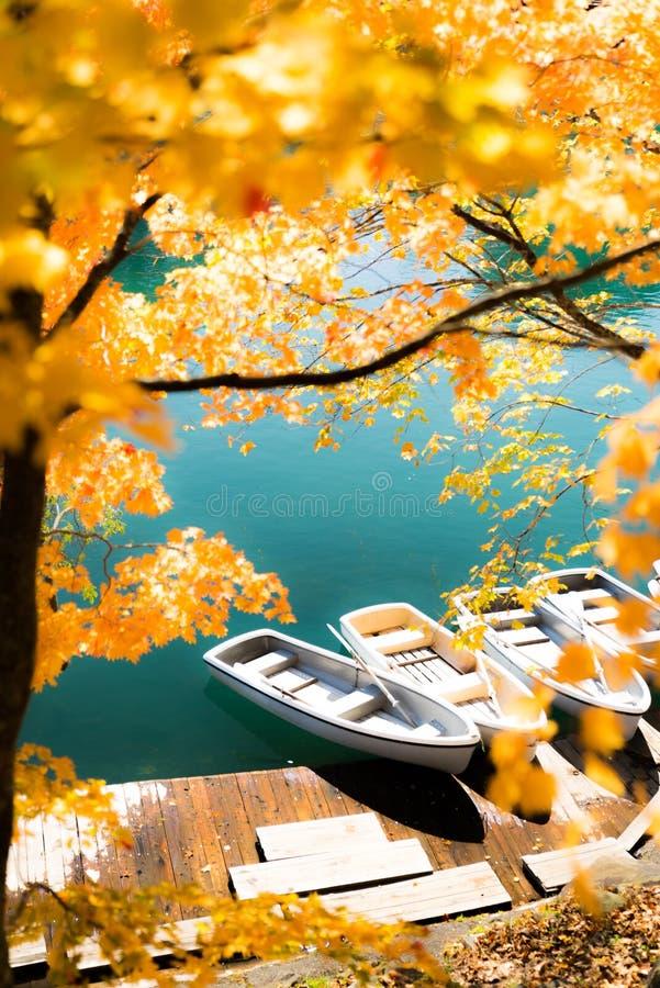 Goshiki-numa Urabandai Fukushima jesień Japonia zdjęcia stock