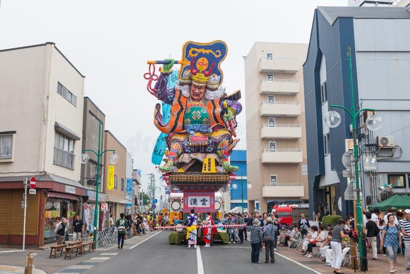 Goshogawara田智Neputa (站立的浮游物)节日 库存照片