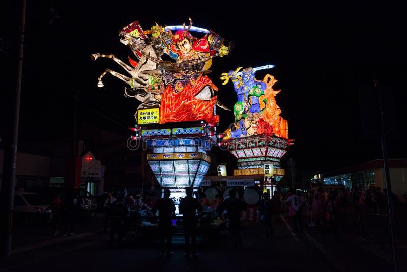 Goshogawara田智Neputa (站立的浮游物)节日 图库摄影