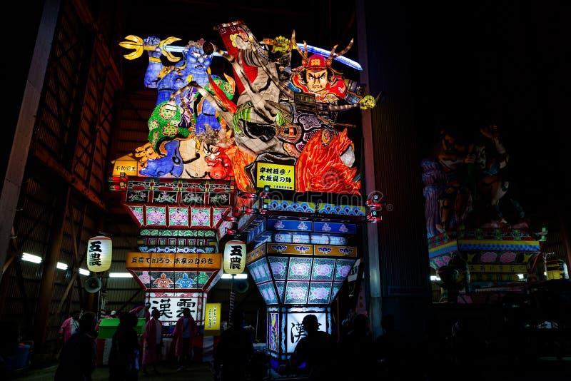 Goshogawara田智Neputa (站立的浮游物)节日 库存图片