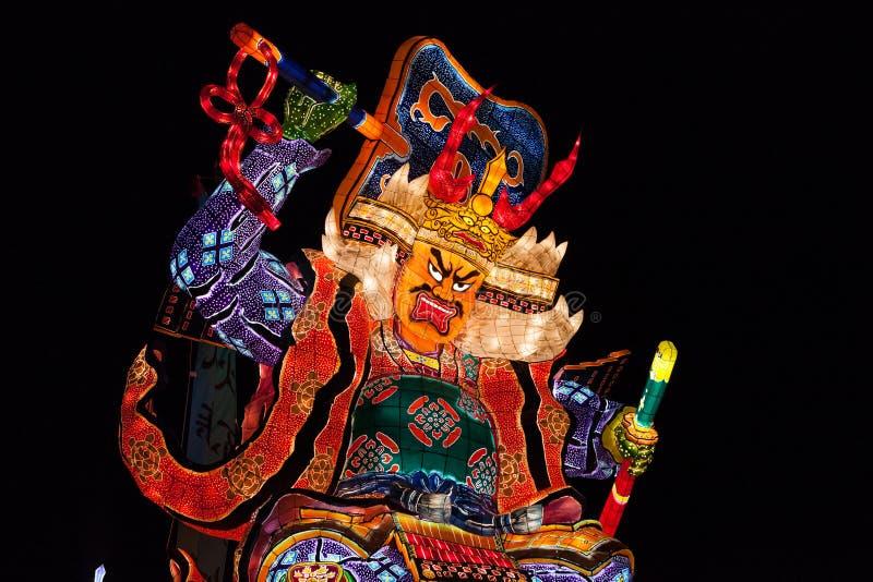 Goshogawara田智Neputa (站立的浮游物)节日 免版税库存照片