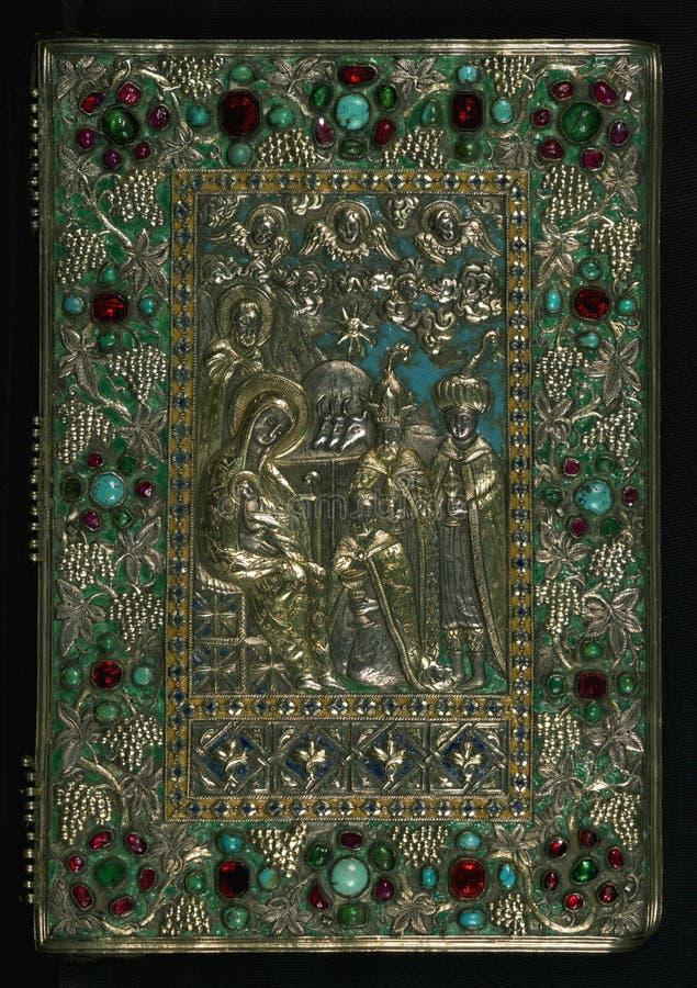 Gospel Book, Original treasure binding, Walters Manuscript W.540, Upper board outside stock image