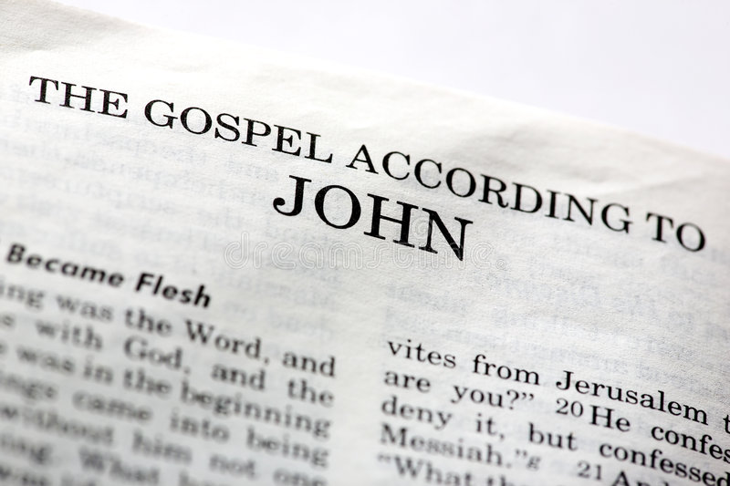 Gospel of John stock photo