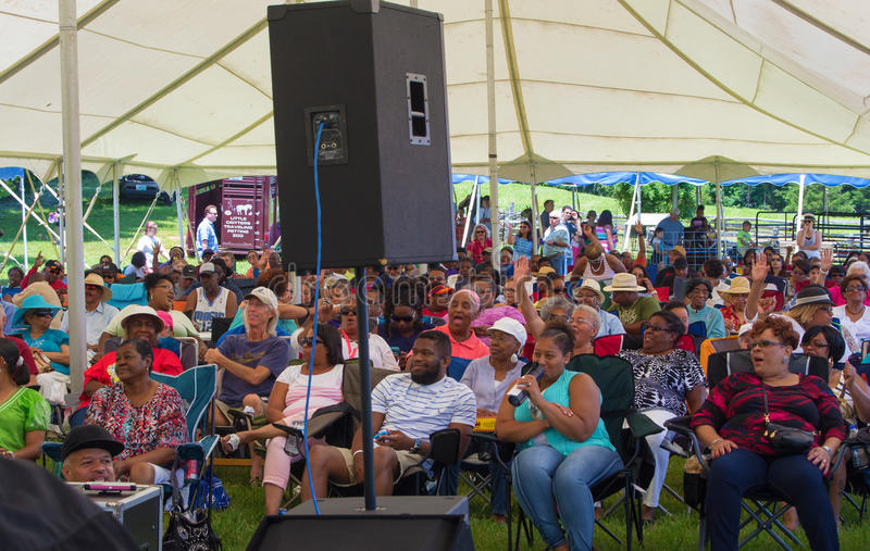 "Gospel Music Event at Booker T. Washington National Monument. Franklin County, VA – June 18th: Gospel music at the annual ""Juneteenth Gospel Event stock image"