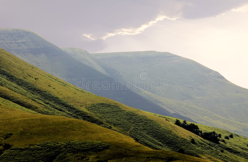 Download Gospel Pass The Black Mountains Stock Photo - Image of europe, national: 1377758