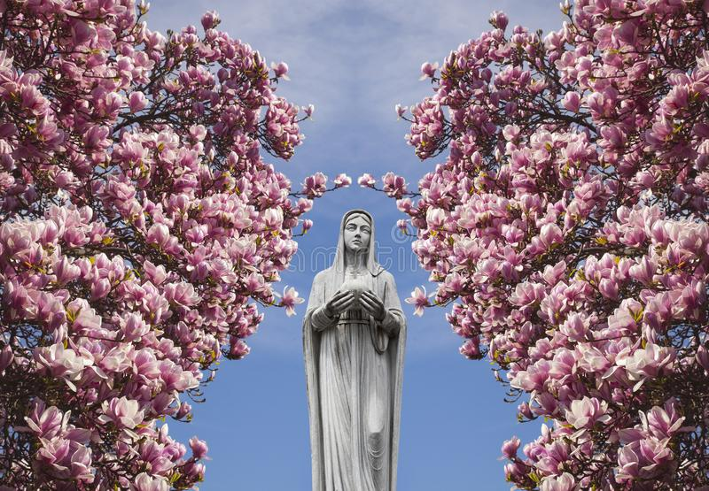 Mary, mother of Jesus royalty free illustration