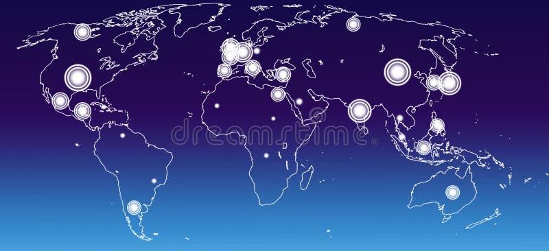 Gospodarki światowa mapa zdjęcia stock