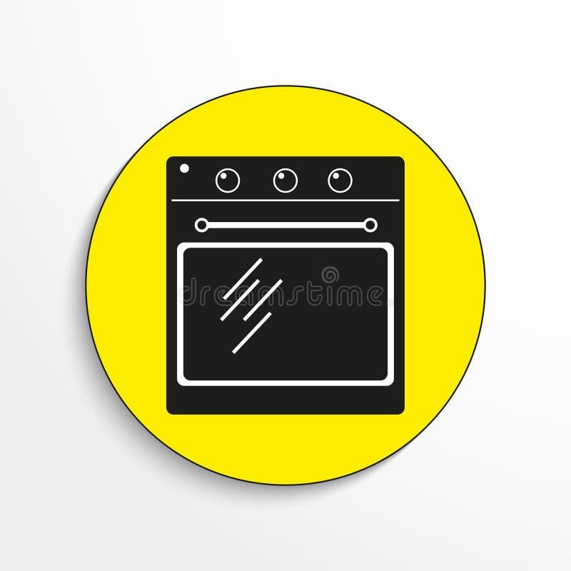 gospodarstw domowych urządzenia piekarnik przygotowywa ikonę ilustracji