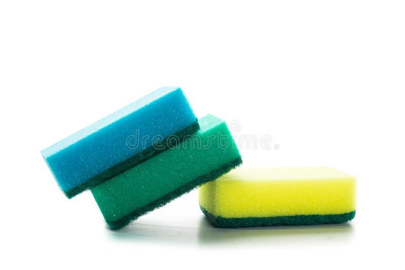 Gospodarstwa domowego cleaning gąbka fotografia stock