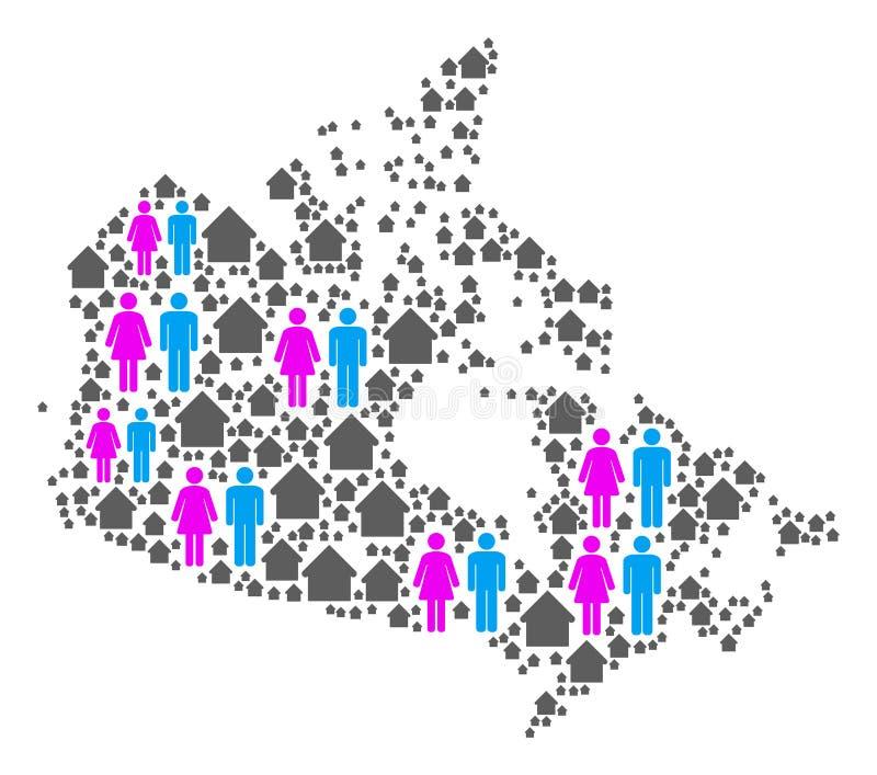 Gospodarstwa domowego Kanada mapa ilustracji