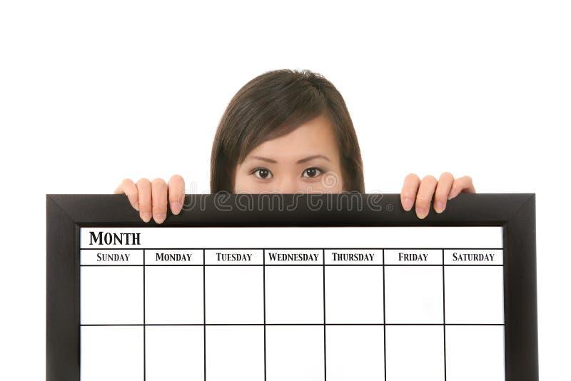gospodarstwa kalendarzowa kobieta obraz stock