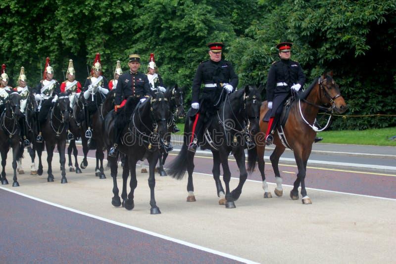 Gospodarstwo domowe kawaleria Wspinający się pułk Londyn Anglia obraz royalty free