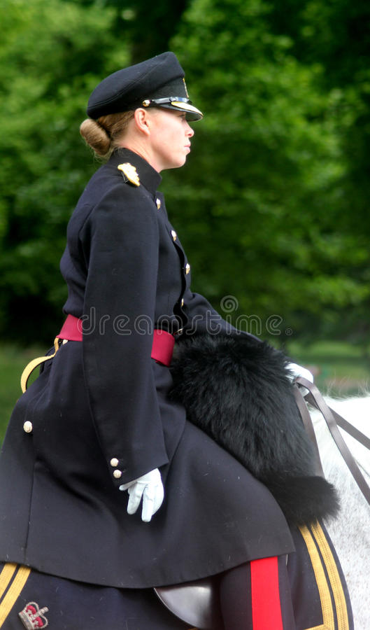 Gospodarstwo domowe kawaleria Wspinający się pułk Londyn Anglia obrazy stock