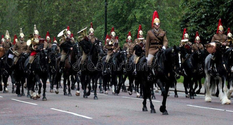 Gospodarstwo domowe kawalerii Watercolour skutek fotografia royalty free