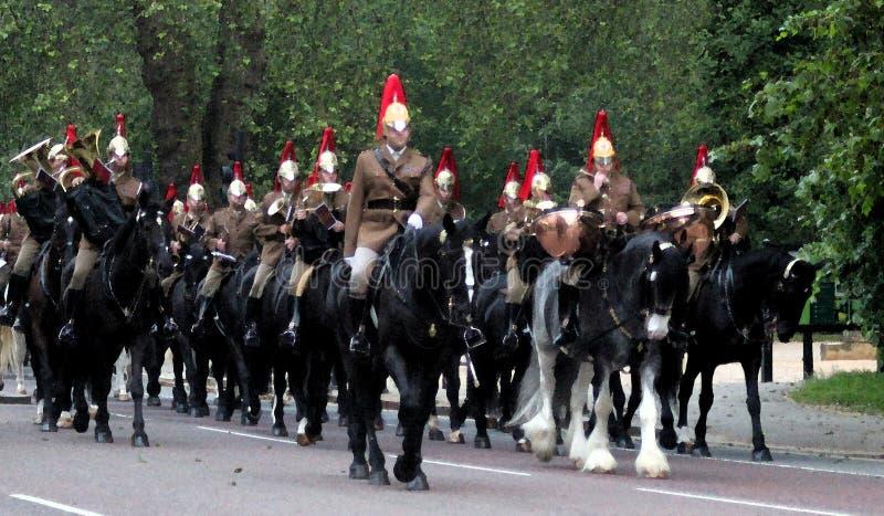 Gospodarstwo domowe kawalerii Watercolour skutek obraz stock