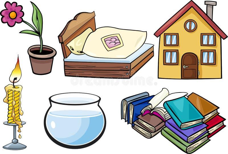 Gospodarstwo domowe protestuje kreskówki ilustraci set ilustracji