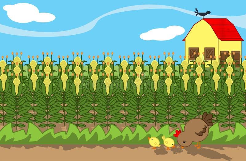 Download Gospodarstwo rolne ilustracji. Obraz złożonej z kurczątka - 16192743