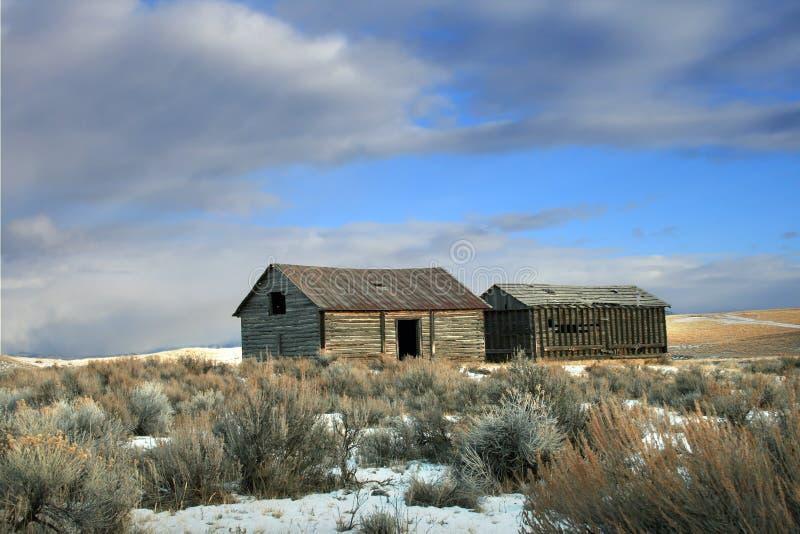 gospodarstwo rolne opustoszały dom obraz royalty free