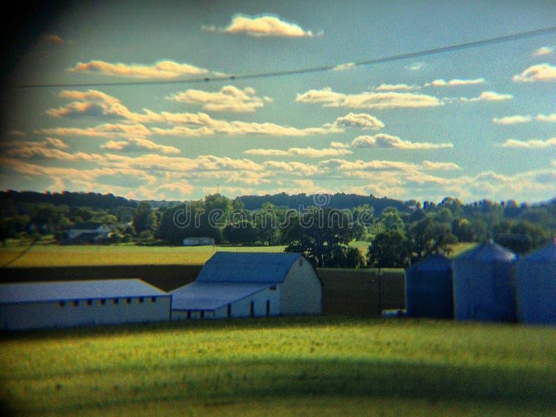 Gospodarstwo rolne w dolinie obrazy stock