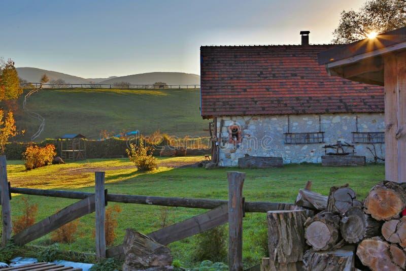 Gospodarstwo rolne w wsi zdjęcie stock