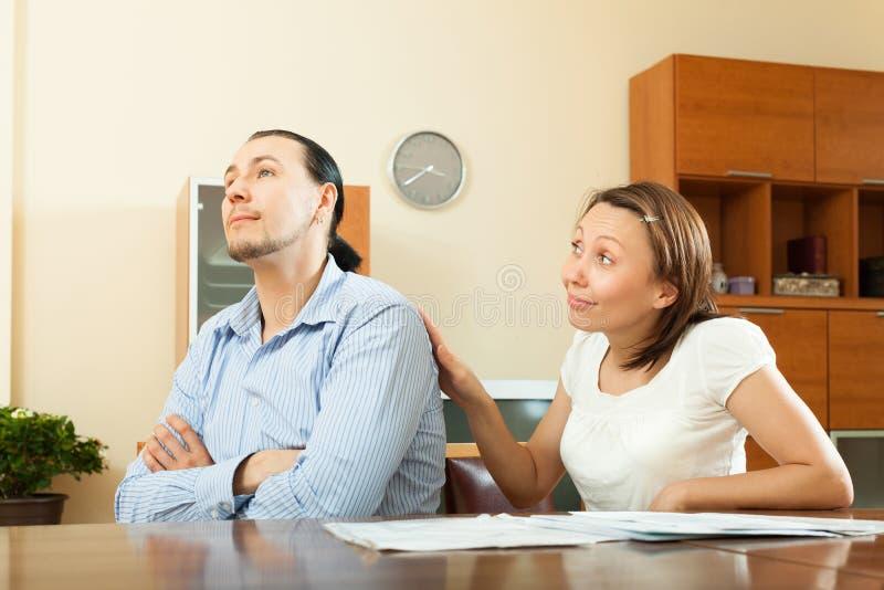 Gospodyni domowa pyta dla pieniądze zdjęcia royalty free