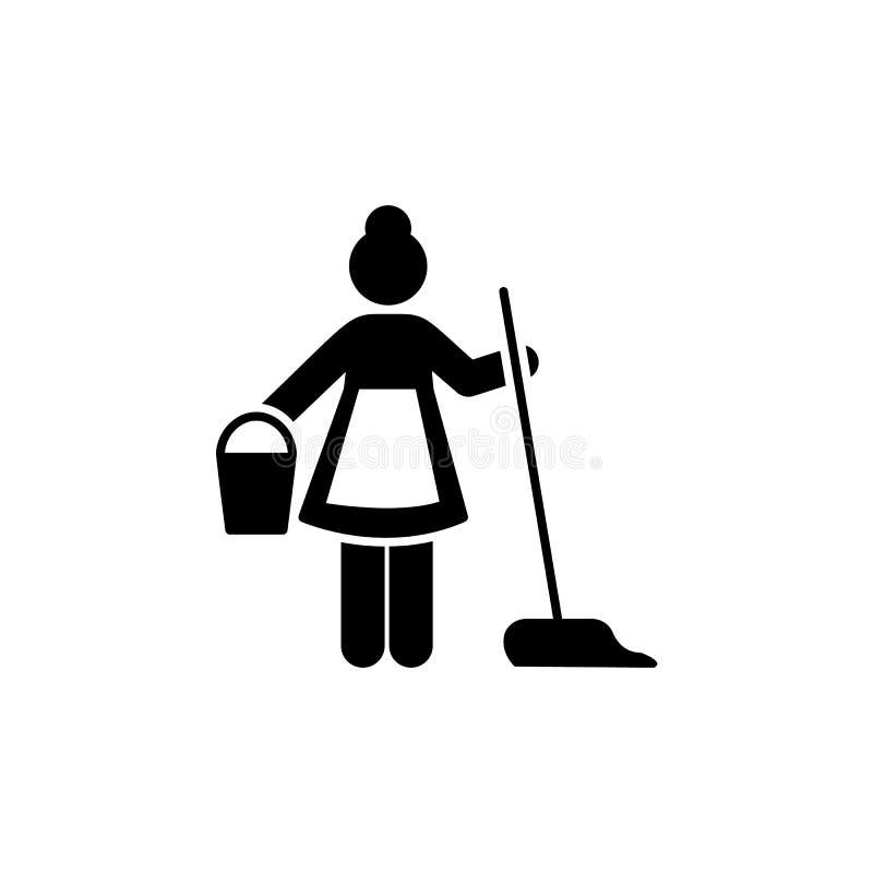 Gosposia, humanpictos, hotel, usługuje ikonę Element hotelowa piktogram ikona Premii ilo?ci graficznego projekta ikona podpisz sy ilustracja wektor