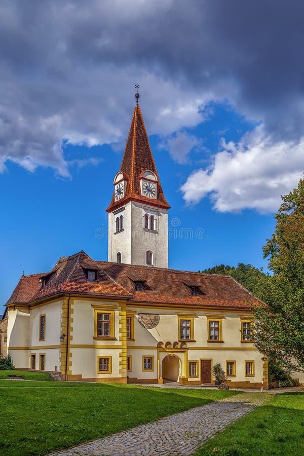 Goss-Abtei, Leoben, Österreich stockfotos