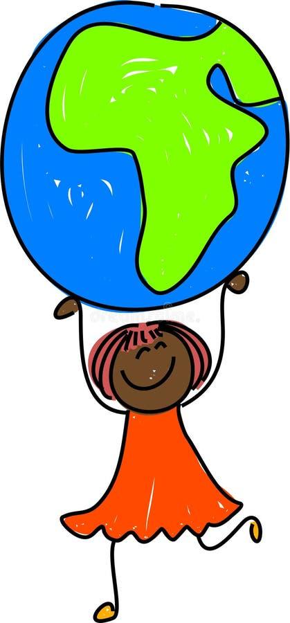 Gosse africain illustration de vecteur