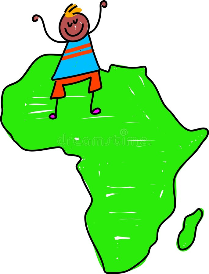 Gosse africain illustration stock