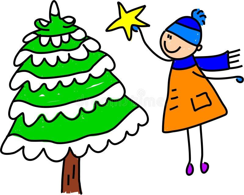 Gosse d'arbre de Noël illustration libre de droits