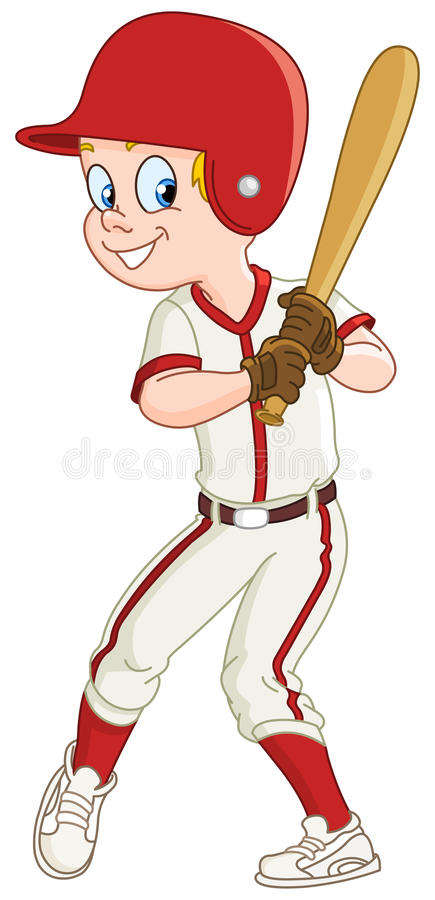 Gosse De Base-ball Photos libres de droits