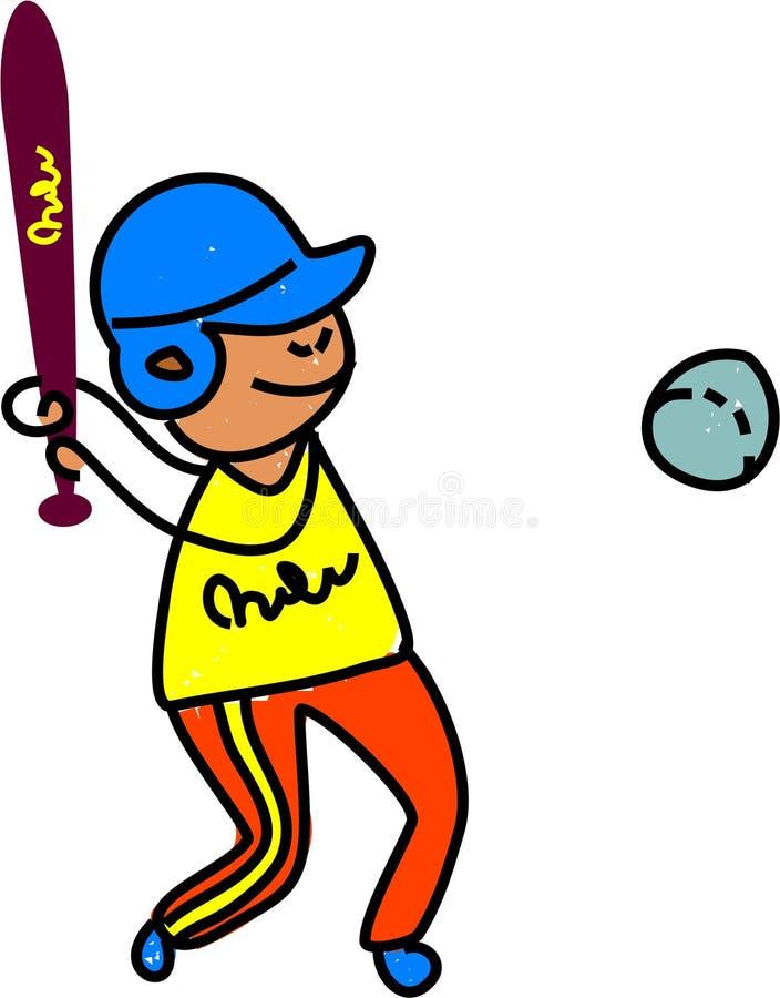 Gosse de base-ball illustration libre de droits