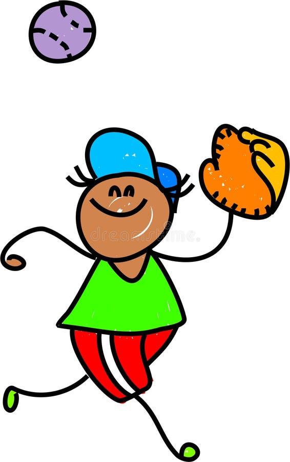 Gosse de base-ball illustration stock