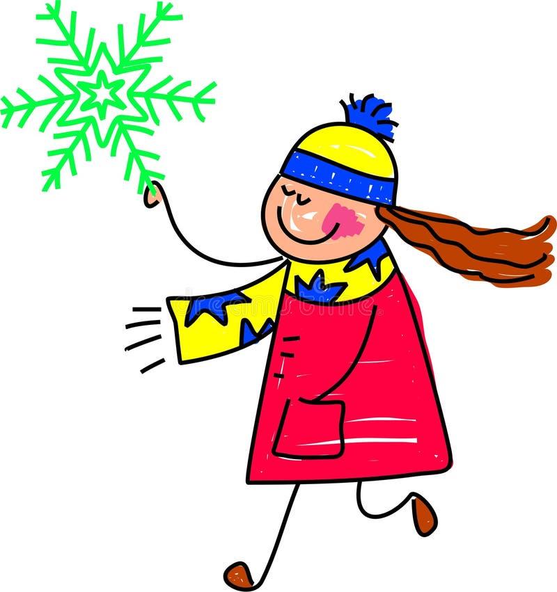 Gosse de flocon de neige illustration libre de droits