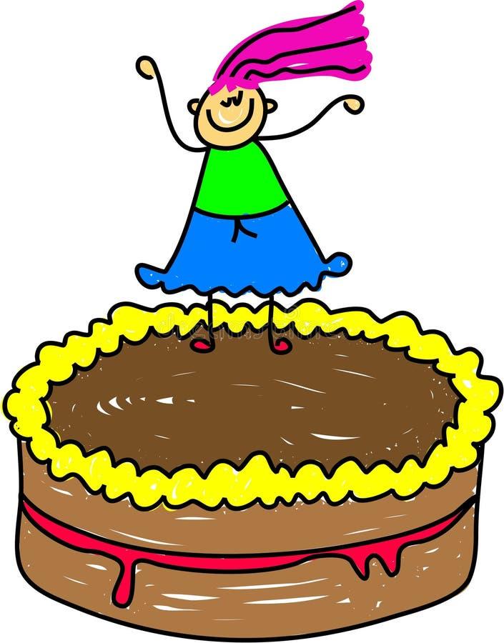 Gosse de gâteau illustration libre de droits
