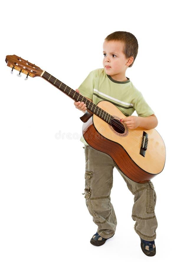 gosse de guitare image stock