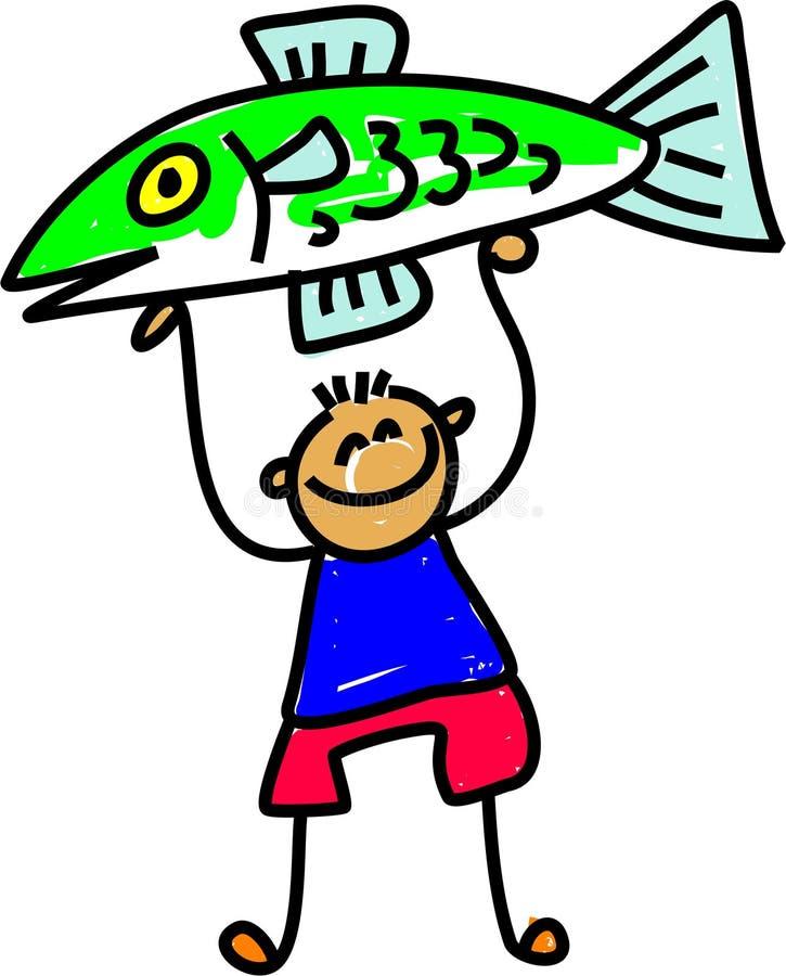 Gosse de poissons illustration libre de droits