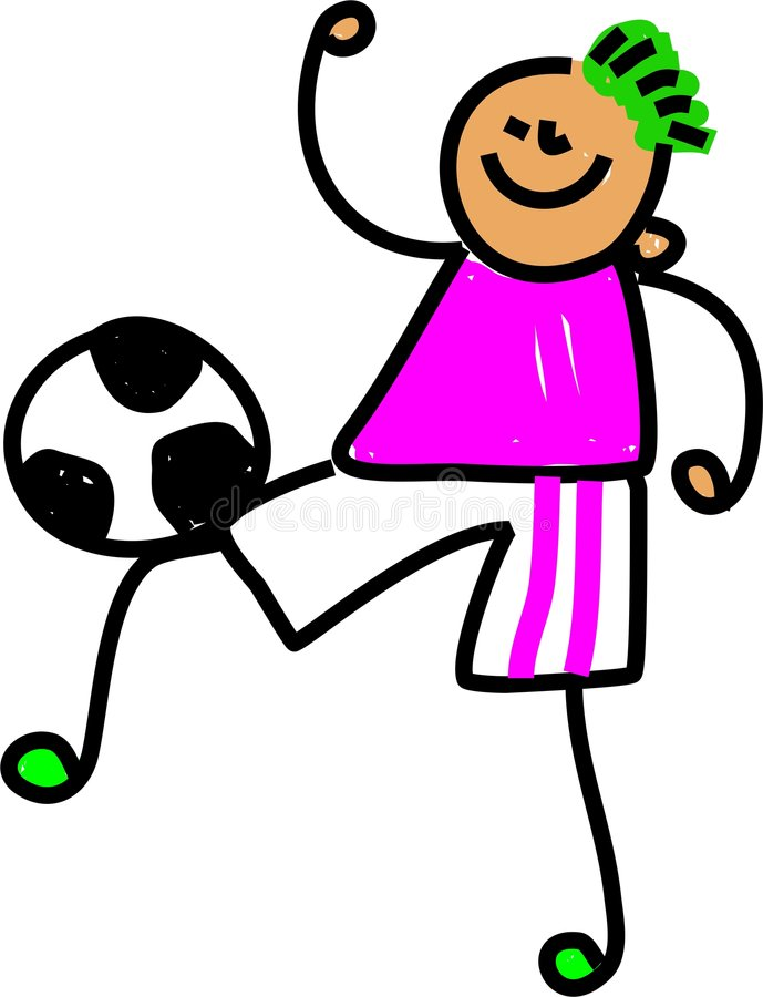 Gosse du football illustration libre de droits