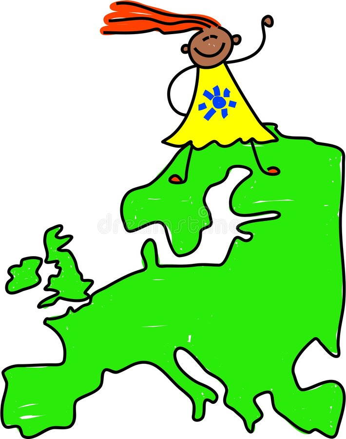 Gosse européen illustration stock