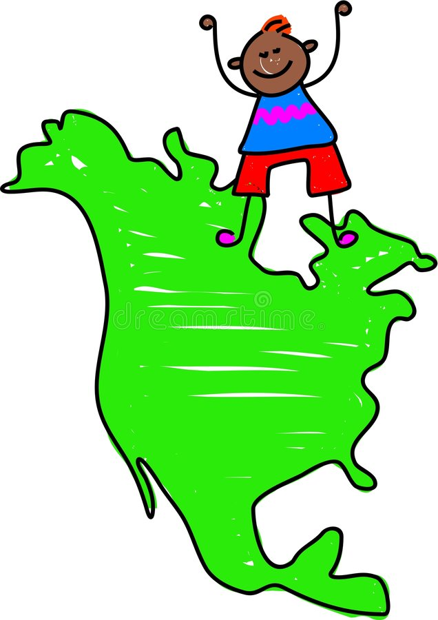 Gosse nord-américain illustration libre de droits
